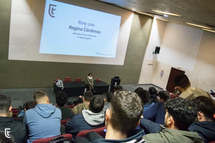 Coloquio Regina Cárdenas con Grado Superior FP-2